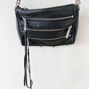 Rebecca Minkoff 5 zip leather crossbody bag
